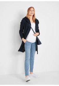 Niebieskie jeansy bonprix moda ciążowa #6