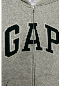 Szara bluza rozpinana GAP na co dzień, casualowa, z kapturem #3