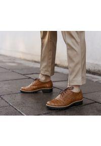 Półbuty Zapato klasyczne, w kolorowe wzory, na sznurówki
