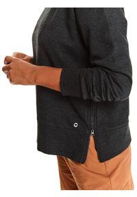 TOP SECRET - Bluza damska nierozpinana z rozcięciami po bokach. Kolor: czarny. Materiał: dzianina. Długość rękawa: długi rękaw. Długość: długie. Wzór: napisy. Sezon: jesień