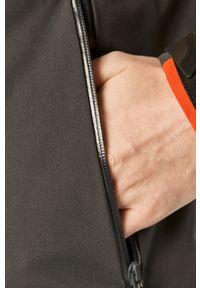 Pomarańczowa kurtka 4f casualowa, gładkie, z kapturem, na co dzień