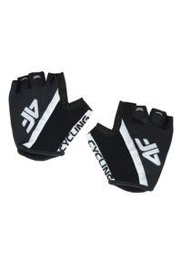 Czarna rękawiczka sportowa 4f w kolorowe wzory