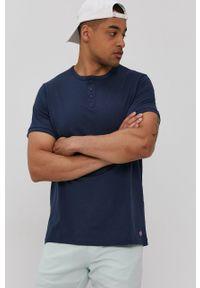 Lee Cooper - T-shirt. Okazja: na co dzień. Kolor: niebieski. Materiał: dzianina. Długość: krótkie. Wzór: gładki. Styl: casual