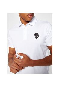 Biała koszulka polo Karl Lagerfeld polo