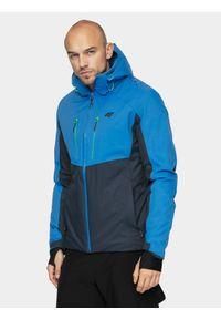 4f - Kurtka narciarska męska. Kolor: niebieski. Materiał: mesh, materiał, poliester. Technologia: Dermizax. Sezon: zima. Sport: narciarstwo