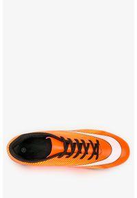 Casu - Pomarańczowe buty sportowe korki sznurowane casu 21m3/m. Kolor: pomarańczowy