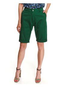 Zielone szorty TOP SECRET w kolorowe wzory, na jesień