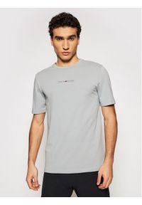 TOMMY HILFIGER - Tommy Hilfiger T-Shirt Stripe Logo MW0MW17373 Szary Regular Fit. Kolor: szary