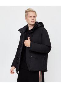 YVES SALOMON PARIS - Czarna kurtka dwustronna. Okazja: na co dzień. Kolor: czarny. Materiał: materiał. Długość rękawa: długi rękaw. Długość: długie. Wzór: aplikacja. Styl: klasyczny, elegancki, casual
