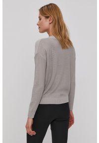Brave Soul - Sweter. Kolor: szary. Materiał: dzianina. Długość rękawa: długi rękaw. Długość: długie