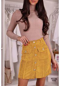 Żółta spódnica IVET na co dzień, casualowa