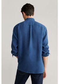 Niebieska koszula Mango Man casualowa, długa, na co dzień