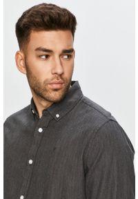 Clean Cut Copenhagen - Koszula bawełniana. Typ kołnierza: button down. Kolor: szary. Materiał: bawełna. Długość rękawa: długi rękaw. Długość: długie