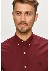 Brązowa koszula Polo Ralph Lauren z długim rękawem, button down, na co dzień, casualowa