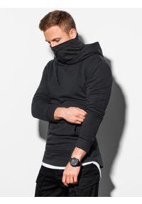 Ombre Clothing - Bluza męska z kapturem B1012 - czarna - XXL. Typ kołnierza: kaptur. Kolor: czarny. Materiał: bawełna, dzianina, poliester. Styl: elegancki #3