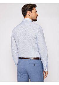 Tommy Hilfiger Tailored Koszula Mini Prt MW0MW16450 Niebieski Slim Fit. Kolor: niebieski