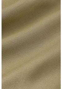 IVY & OAK - Sukienka Dena. Kolor: zielony. Materiał: włókno, wiskoza, satyna, materiał. Długość rękawa: długi rękaw. Wzór: ze splotem. Typ sukienki: rozkloszowane