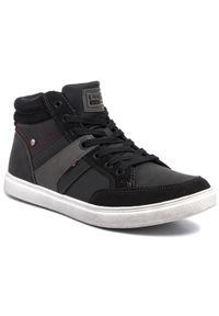 Czarne sneakersy Lanetti z cholewką, na co dzień