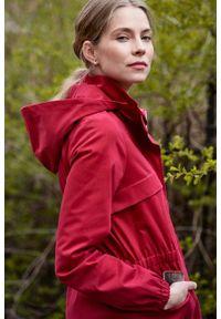 Marie Zélie - Kurtka Estel bawełna czerwona. Kolor: czerwony. Materiał: bawełna. Długość: krótkie. Sezon: lato