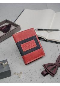 ALWAYS WILD - Portfel męski skórzany Always Wild N4-JEANS czerwony. Kolor: czerwony. Materiał: skóra