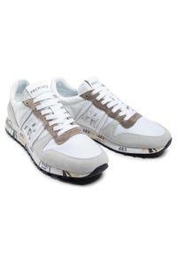 Premiata - Sneakersy PREMIATA - Eric 5174 White/Light Grey. Okazja: na co dzień. Kolor: biały. Materiał: skóra, skóra ekologiczna, zamsz, materiał. Szerokość cholewki: normalna. Styl: klasyczny, sportowy, elegancki, casual