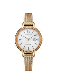 CITIZEN ZEGAREK Lady EW2447-89A. Rodzaj zegarka: analogowe. Materiał: mesh. Styl: elegancki