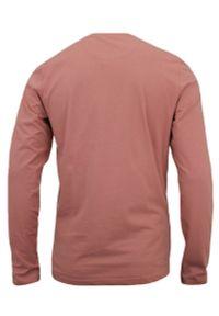 Różowy t-shirt Brave Soul z napisami, z długim rękawem, casualowy, na co dzień