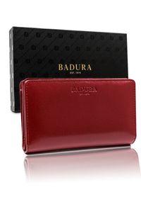 Badura portfel damski PO_D103CR_CE czerwony. Kolor: czerwony. Materiał: skóra