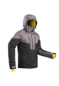 WEDZE - Kurtka narciarska 900 Warm męska. Kolor: czarny. Materiał: materiał, puch. Sport: narciarstwo