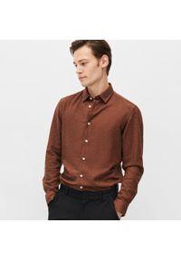 Brązowa koszula Reserved jodełka