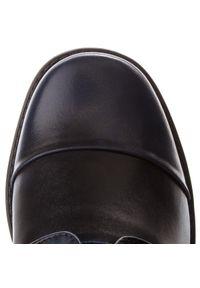 Niebieskie buty komunijne Zarro z cholewką