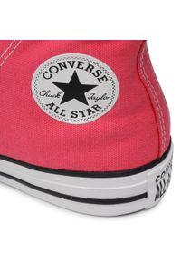 Różowe buty sportowe Converse z cholewką
