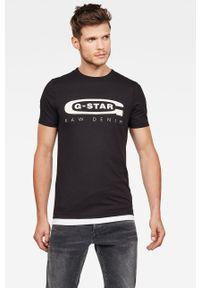 G-Star RAW - G-Star Raw - T-shirt. Kolor: czarny. Wzór: nadruk