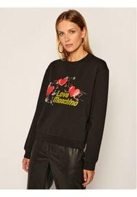 Love Moschino - LOVE MOSCHINO Bluza W630635E 2182 Czarny Regular Fit. Kolor: czarny