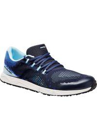 Niebieskie buty sportowe NEWFEEL w geometryczne wzory, trekkingowe