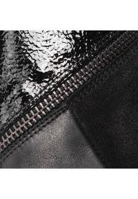 Czarne botki Hispanitas z aplikacjami, z cholewką, na obcasie