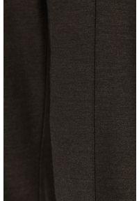 Szare spodnie materiałowe Stefanel na co dzień, casualowe, z podwyższonym stanem