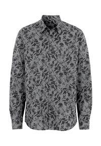 Cellbes Koszula szary we wzory male szary/ze wzorem XXL. Kolor: szary. Materiał: tkanina. Styl: elegancki