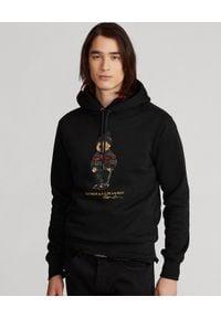 Ralph Lauren - RALPH LAUREN - Czarna bluza z kapturem Lunar New Year Polo Bear. Typ kołnierza: polo, kaptur. Kolor: czarny. Materiał: bawełna. Długość rękawa: długi rękaw. Długość: długie. Wzór: nadruk