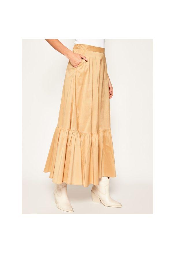 Brązowa długa spódnica Luisa Spagnoli