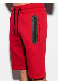 Czerwone szorty Ombre Clothing krótkie #4
