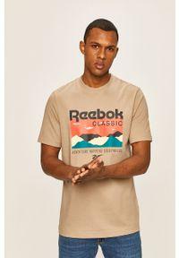 T-shirt Reebok Classic z nadrukiem, z okrągłym kołnierzem, casualowy