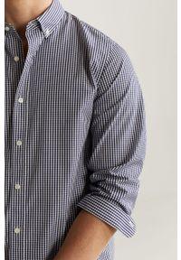 Niebieska koszula Mango Man na co dzień, casualowa, button down