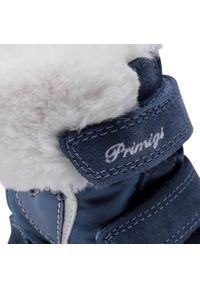 Niebieskie śniegowce Primigi z cholewką