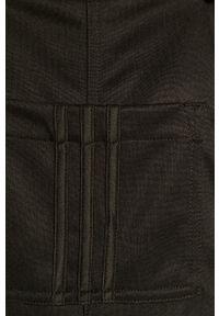 Czarny kombinezon adidas Originals na ramiączkach, gładki, długi
