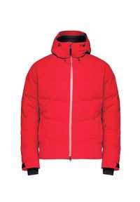 Czerwona kurtka narciarska Bogner na zimę, Primaloft