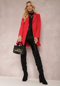 Renee - Czerwona Marynarka Iseope. Kolor: czerwony. Materiał: tkanina. Długość: długie. Wzór: jednolity. Styl: elegancki #3