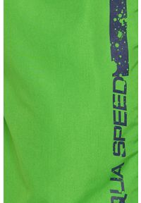 Zielone kąpielówki Aqua Speed z nadrukiem