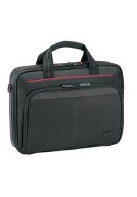 Czarna torba na laptopa TARGUS w paski, elegancka