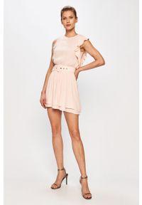 Różowa sukienka Silvian Heach gładkie, bez rękawów